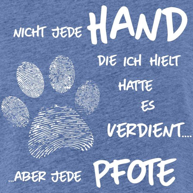 Vorschau: Hand Pfote Hund - Frauen Oversize T-Shirt