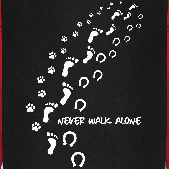 Vorschau: never walk alone hund pferd - Unisex Baseball Hoodie