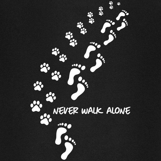 Vorschau: never walk alone dog - Unisex Baseball Hoodie