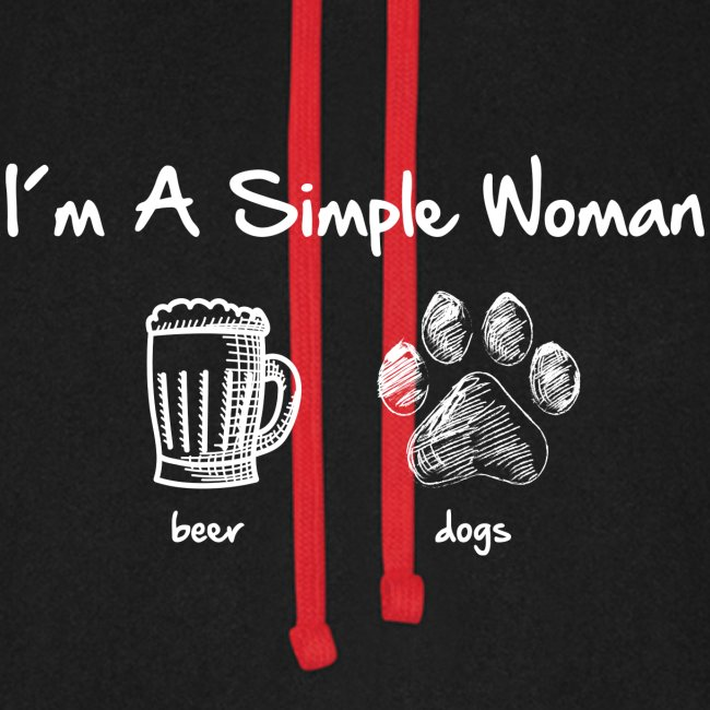 Vorschau: simple woman beer white - Unisex Baseball Hoodie