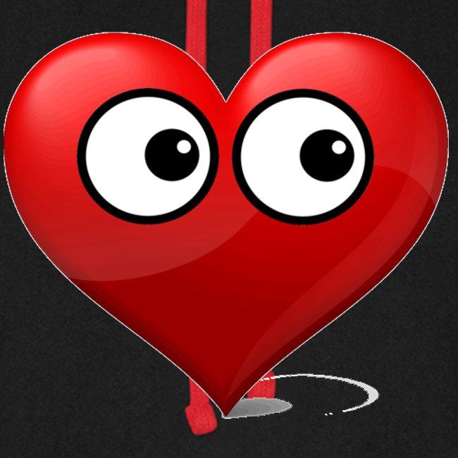 cœur avec yeux
