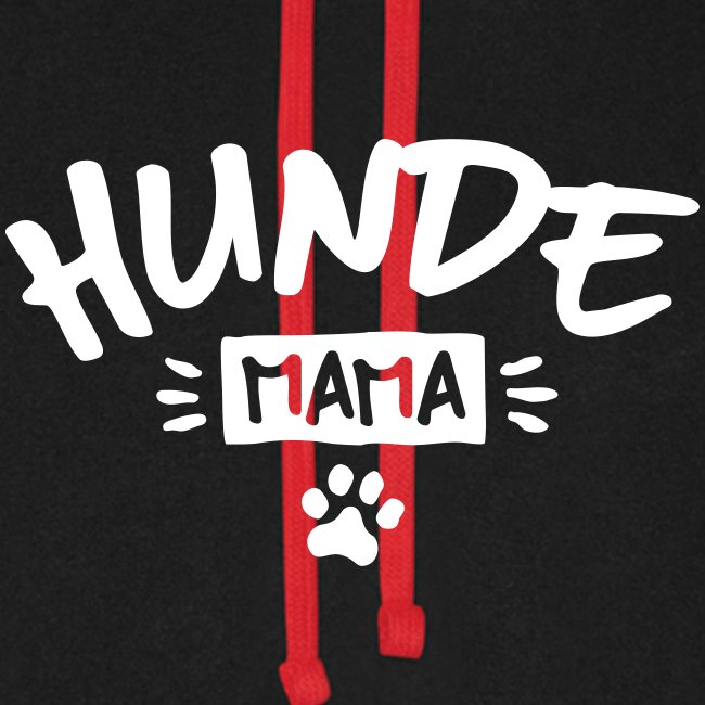 Vorschau: Hunde Mama - Unisex Baseball Hoodie