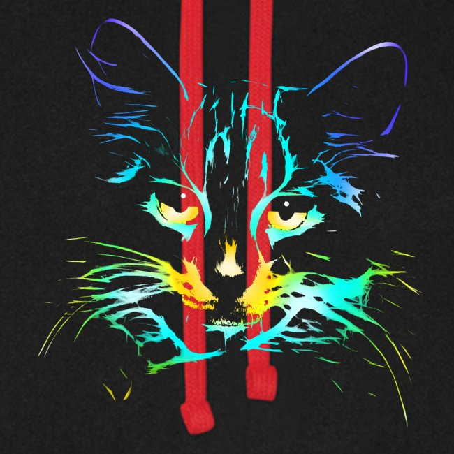 Vorschau: color kitty - Unisex Baseball Hoodie