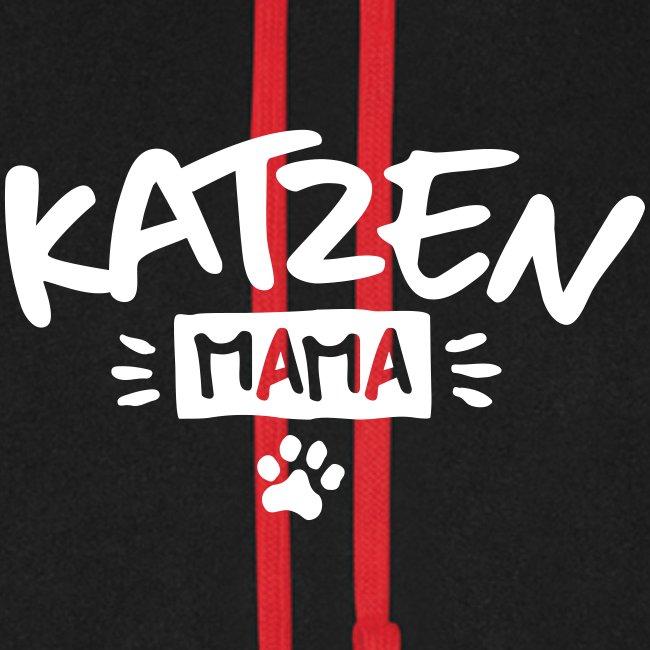 Vorschau: Katzen Mama - Unisex Baseball Hoodie