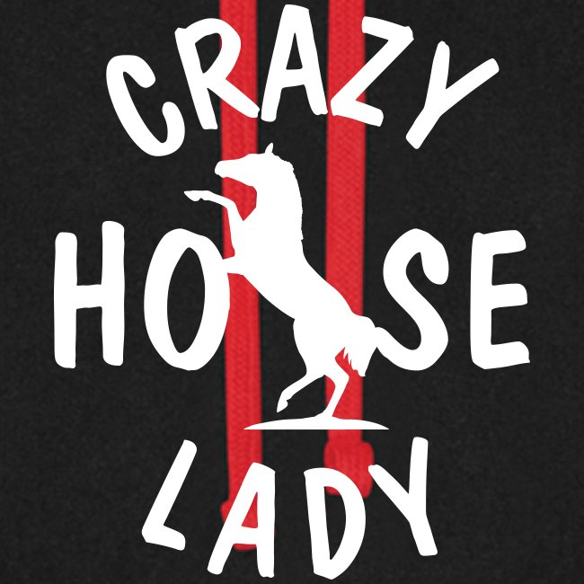Vorschau: crazy horse lady - Unisex Baseball Hoodie
