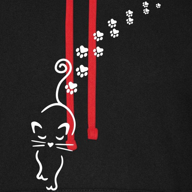 Vorschau: catwalk cat - Unisex Baseball Hoodie