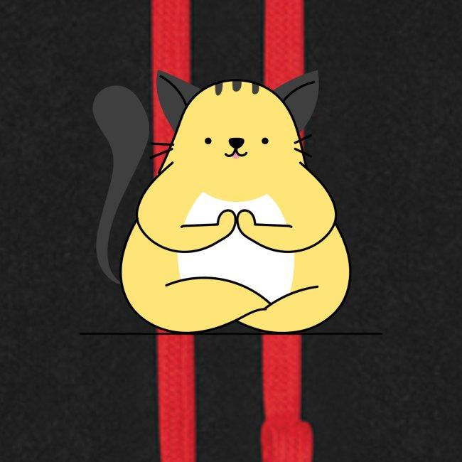 Cat Yoga Pose Print Design, Hoodie Other Apparels