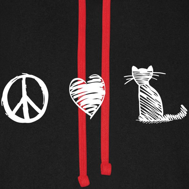 peace love cats - Unisex Baseball Hoodie