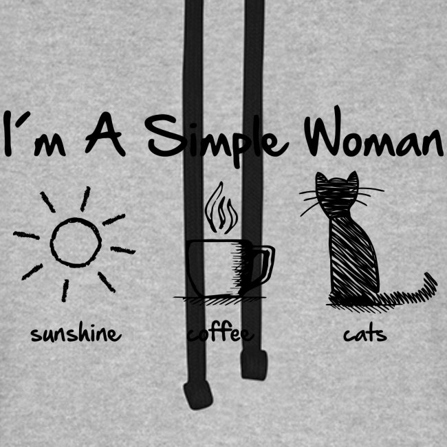 Vorschau: simple woman cats - Unisex Baseball Hoodie
