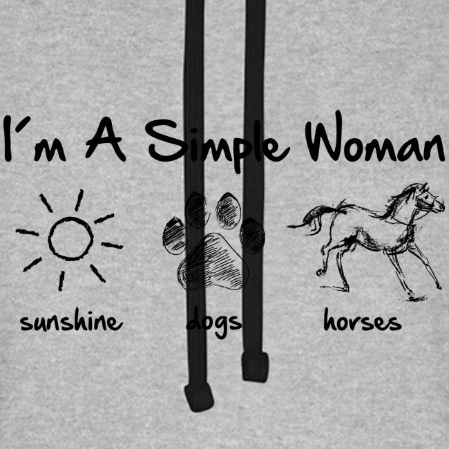 Vorschau: simple woman horse dog - Unisex Baseball Hoodie
