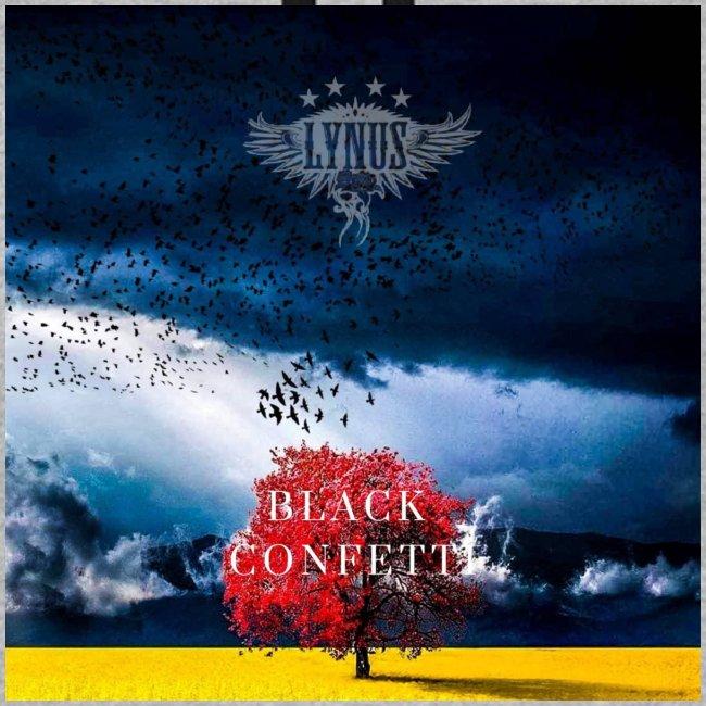 Black Confetti Promo Design