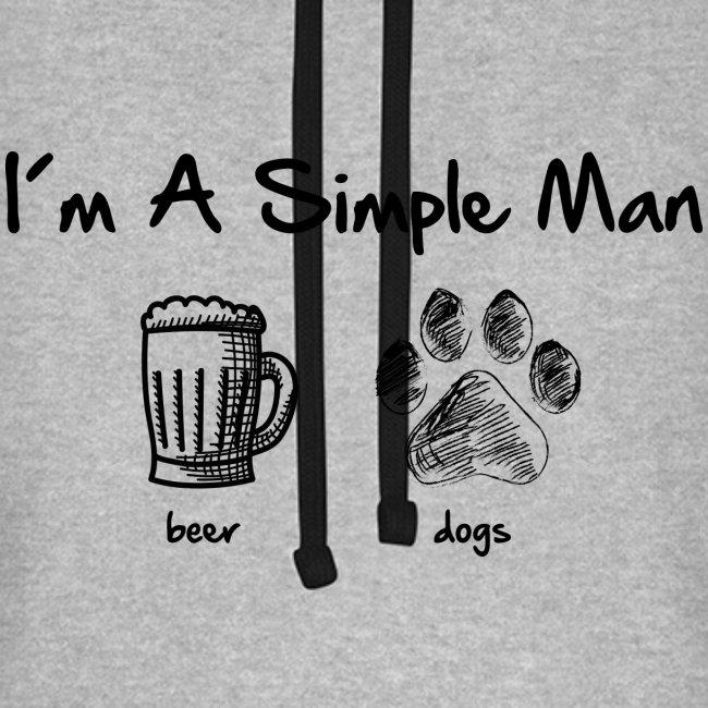 Vorschau: simple man dogs beer - Unisex Baseball Hoodie