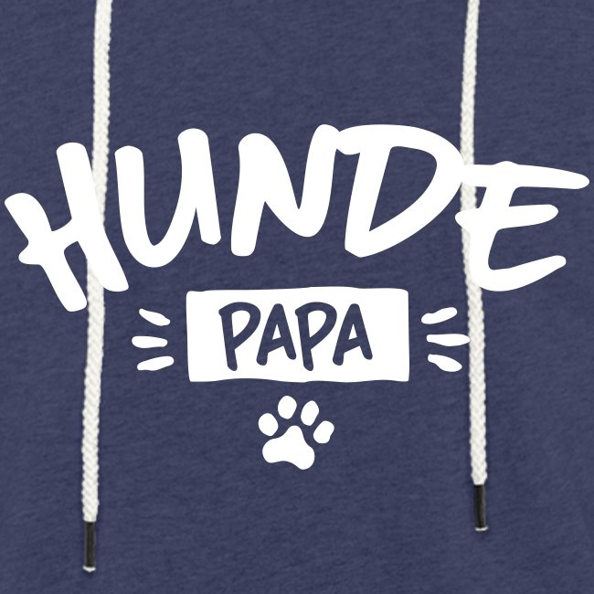 Vorschau: Hunde Papa - Leichtes Kapuzensweatshirt Unisex
