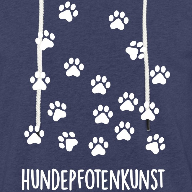 Vorschau: Hundepfotenkunst - Leichtes Kapuzensweatshirt Unisex