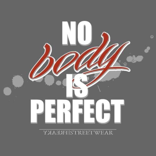 No body is perfect - Leichtes Kapuzensweatshirt Unisex