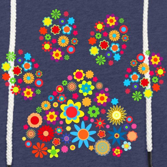 Vorschau: flower dog paw cat - Leichtes Kapuzensweatshirt Unisex