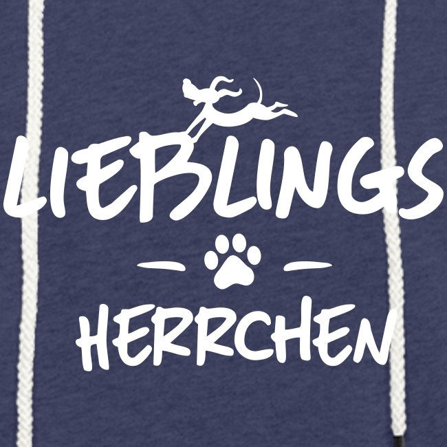 Vorschau: lieblings herrchen - Leichtes Kapuzensweatshirt Unisex