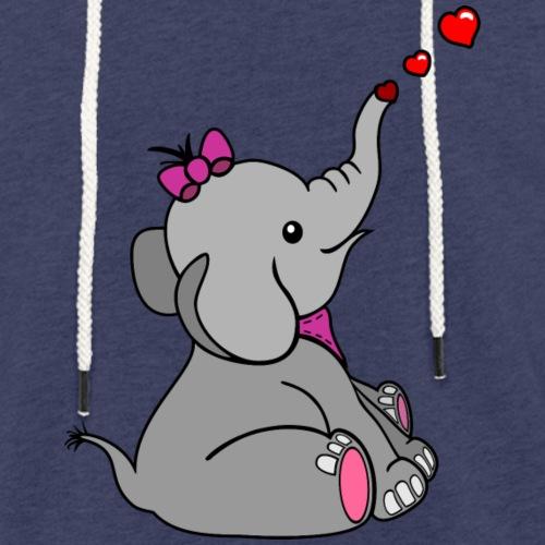 Elefant - Leichtes Kapuzensweatshirt Unisex