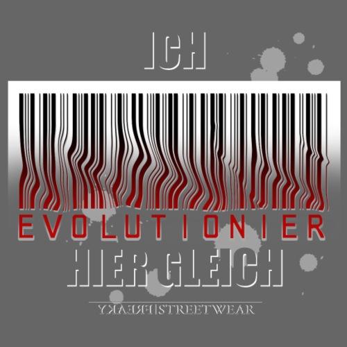 Ich evolutioniere - Leichtes Kapuzensweatshirt Unisex