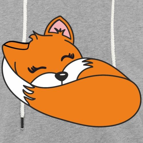 Fuchs schlafend - Leichtes Kapuzensweatshirt Unisex