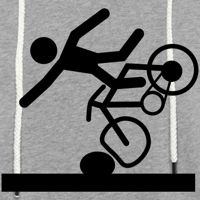 Strichmännchen Fahrradunfall