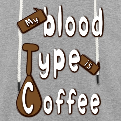 Blood Coffee - Kevyt unisex-huppari
