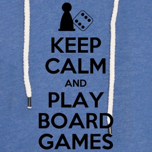 Keep Calm - Board Games - Light Unisex Sweatshirt Hoodie