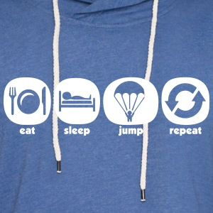 Eat Sleep Jump Repeat - Sweat-shirt à capuche léger unisexe