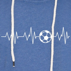 Heartbeat football - Light Unisex Sweatshirt Hoodie