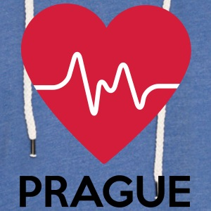 coeur de Prague - Sweat-shirt à capuche léger unisexe