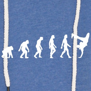 L'évolution du breakdancing - Sweat-shirt à capuche léger unisexe