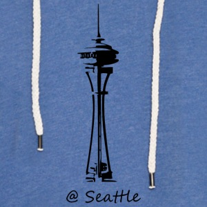 Seattle - Let sweatshirt med hætte, unisex