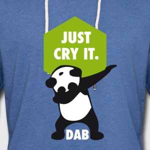 dab cry panda dabbing touchdown just cry it funny - Light Unisex Sweatshirt Hoodie