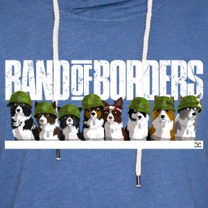 Band Of Borders (Blanc) - Sweat-shirt à capuche léger unisexe