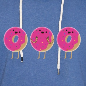 The three (two) donuts - Light Unisex Sweatshirt Hoodie