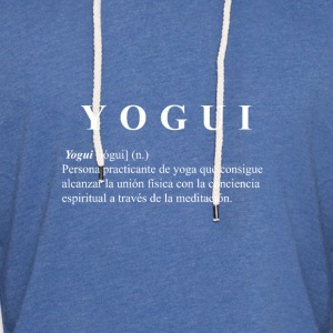 Yogi white shirt - Light Unisex Sweatshirt Hoodie