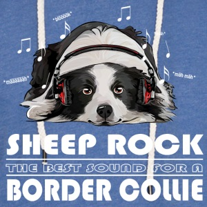 BORDER COLLIE SHEEP ROCK - Leichtes Kapuzensweatshirt Unisex