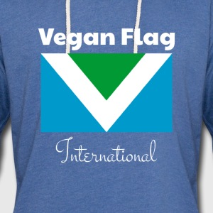 drapeau officiel Vegan drapeau international drapeau - Sweat-shirt à capuche léger unisexe