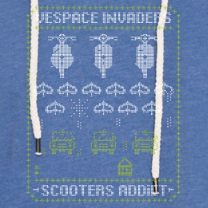 Vespace invaders - Light Unisex Sweatshirt Hoodie
