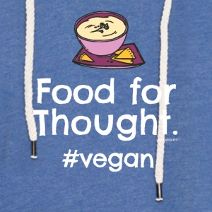 "Végétalien T-shirt ""Food for Thought. #vegan"" - Sweat-shirt à capuche léger unisexe"