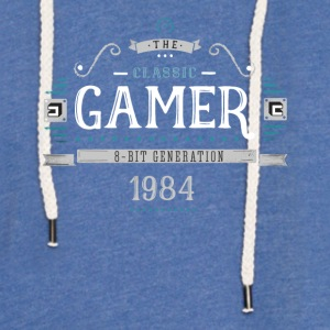 Classic Gamer Retro 8bit Generation 1984 Birthday - Light Unisex Sweatshirt Hoodie