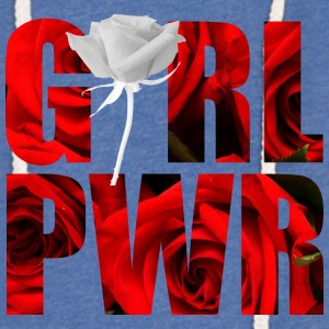 Girl Power White Rose - Lett unisex hette-sweatshirt