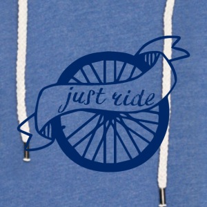 Sykling: Just Ride - Lett unisex hette-sweatshirt