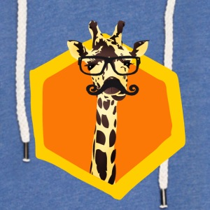 giraffe 6eck hipster orange funny children glasses b - Light Unisex Sweatshirt Hoodie