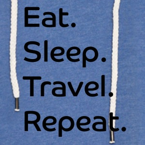 Spis. Sleep. Travel. Gjenta. - Lett unisex hette-sweatshirt
