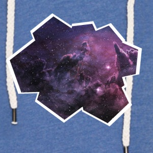 Space vindue - Let sweatshirt med hætte, unisex