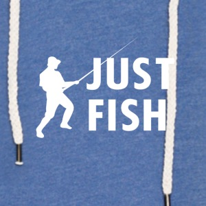Just Fish fishing - Leichtes Kapuzensweatshirt Unisex