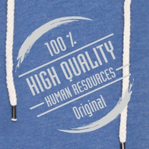 Stamp: High Quality Human Resources - Light Unisex Sweatshirt Hoodie