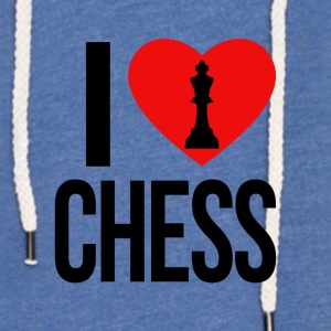 I LOVE CHESS - Let sweatshirt med hætte, unisex