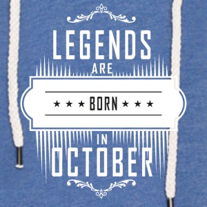 Birthday October legends born gift birth - Light Unisex Sweatshirt Hoodie